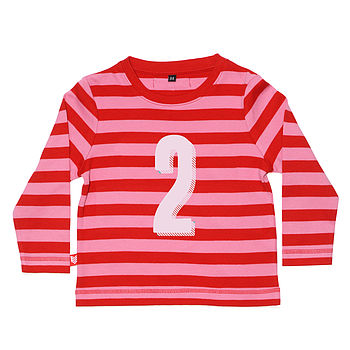 Girl's Age Number T Shirt