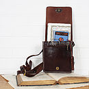 Leather Bruges Mini Messenger Bag