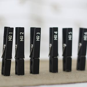 Set Of Number Pegs