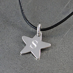 Initial Silver Star Pendant