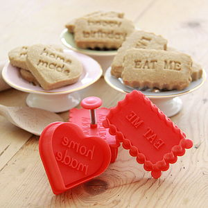 Message Biscuit And Cookie Cutter - gifts for bakers