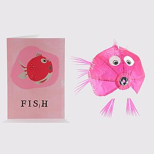 Animal Paper Balloon Greeting Card - birthday cards