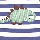 White and blue Striped Dino white and blue Long sleeve T shirt
