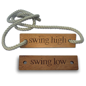 Personalised Wooden Rope Swing