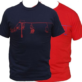Coloured Ski Lift T Shirt