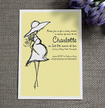 Personalised Polly Baby Shower Invitation