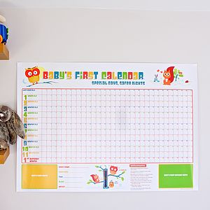 Baby's First Calendar - gifts for babies