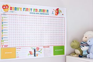 Baby's First Calendar - gifts for babies & children sale