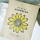 Set Of 10 Personalised Sunflower Seed Packet Favour