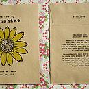 Personalised Sunflower Seed Packet Favour