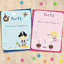 Pack Of Eight Children's Invitations