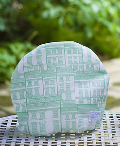 Handmade Screenprinted Houses Tea Cosy