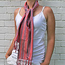 Lady Wearing Suma Scarf
