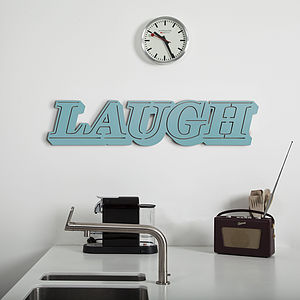 'Laugh' Wall Sign