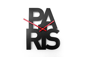 Paris - Typographic City Clock