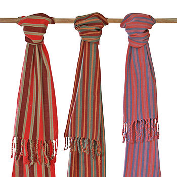 Natural Dye Handwoven Cotton Suma Scarf