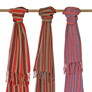 Natural Dye Handwoven Cotton Suma Scarf - scarves & gloves