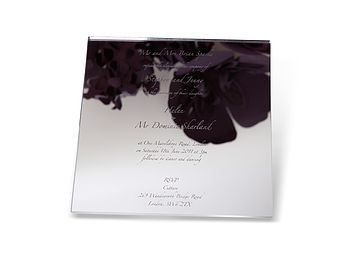 Mirrored Perspex Wedding Invitation