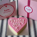 'I Love You' Cake Card