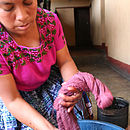 Hand dying cotton thread