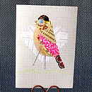 Birdie Greeting Card