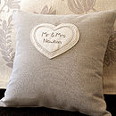 Wedding Gift Personalised Cushion