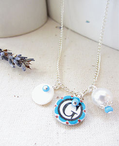 Personalised Letter Handmade Charm Necklace