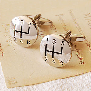 Gear Stick Cufflinks - for him