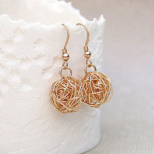 14ct Gold Filled Birds Nest Earrings