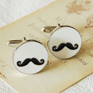 Moustache Cufflinks - jewellery for men