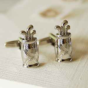 Golf Bag Cufflinks - men's jewellery