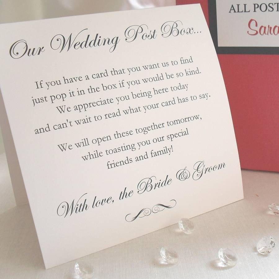 Wedding Poems For Bride And Groom: Personalised Bride & Groom Wedding Post Box By Dreams To