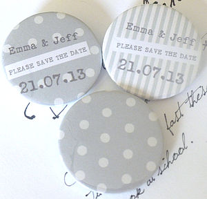 10 Personalised Save The Date Magnets - save the date cards
