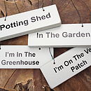 'Gardening' Various Wooden Hanging Signs