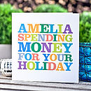 Personalised 'Spending Money' Card