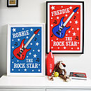 Personalised 'Rock Star' Print