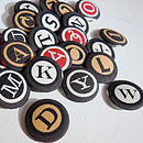 Typewriter Letter Fabric Badge