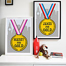 Personalised Going For Gold Medal Print