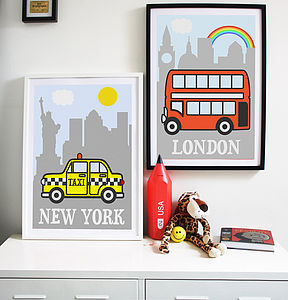 Child's City Print - canvas prints & art for children