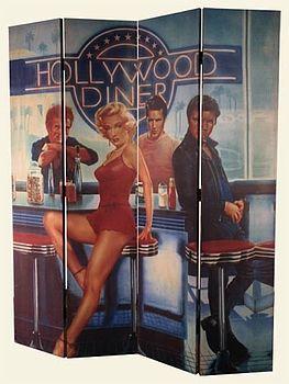 Hollywood 4 panels screen
