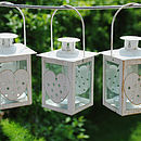 Set Of Three Heart Lanterns