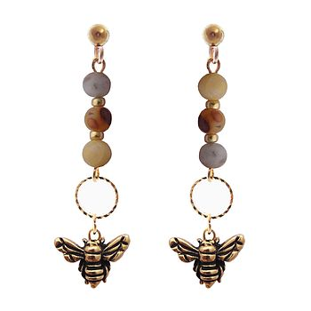 Mini Bea Bee Drop Earrings