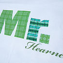 Set Of Two 'Mr' And 'Mrs' Pillowcases: personalised green and turquoise