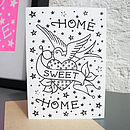'Home Sweet Home' Tattoo Diamante Card