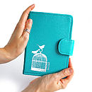 Printed Leather Birdcage Kindle Cover