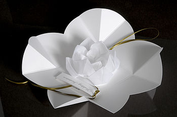 Origami Lotus Flower Invitation