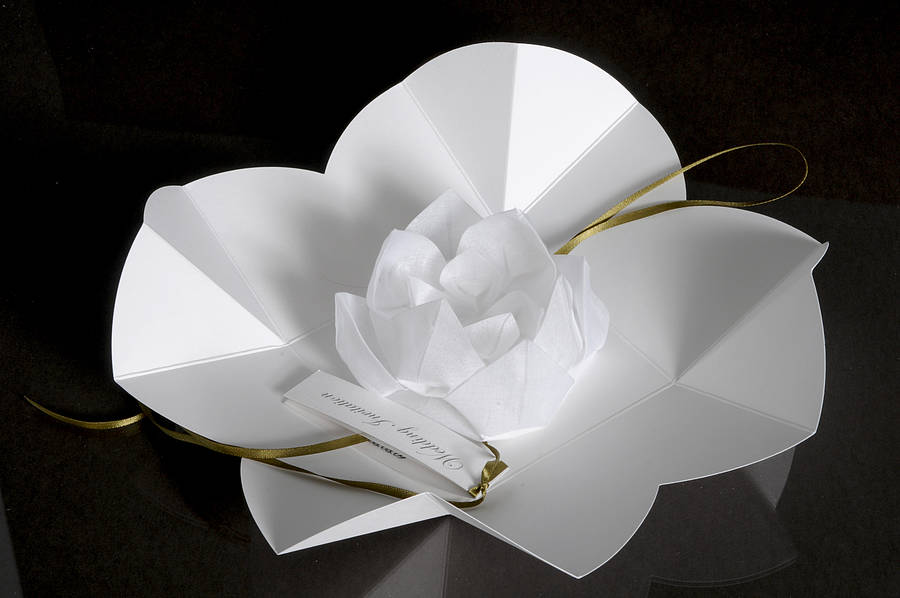 Origami Lotus Flower Invitation By Paperbird Design