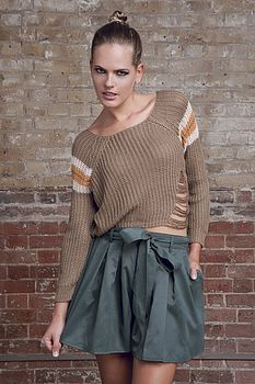 50% Off Striped Shoulders Knit Jumper Was £20