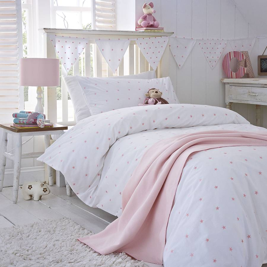 Pink Stars Duvet Cover Collection By The Fine Cotton