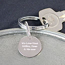 Personalised Silver Key Ring Fob